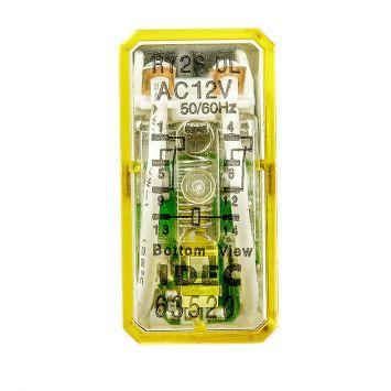 Rele auxiliar 2 contactos inversores ry2s-l  12vca im1.5a montaje a zocalo