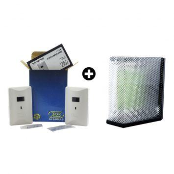 Kit -semaforo para garage a led 220vca 12v c/sonido 4 cables + barrera infrarroja 10mts