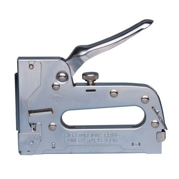 Engrampadora profesional potencia regulable p/grampas 8 a 12mm y clavos 15mm
