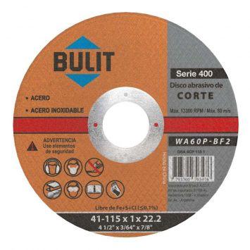 Disco corte extra fino 1 115mm serie 400 bulit