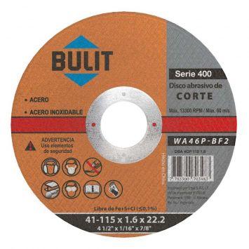 Disco corte fino 1.6  115mm serie 400 bulit
