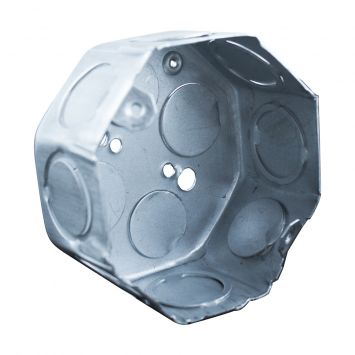 Caja embutir octogonal chica aluminizada nº18 semipesada