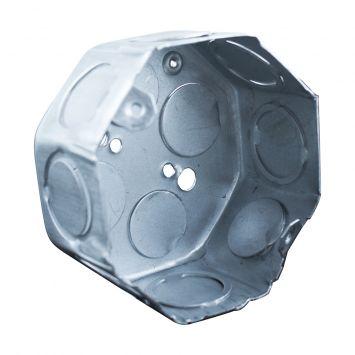 Caja embutir octogonal chica chapa 20 liviana 1.25mm  aluminizada
