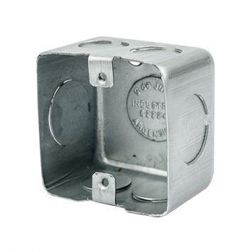 Caja embutir mignon 5x5cm chapa 20 liviana 1.25mm aluminizada