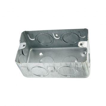 Caja embutir rectangular 5x10cm chapa 20 liviana 1.25mm p/durlock aluminizada