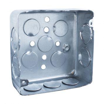 Caja embutir cuadrada 10x10 chapa aluminizada nº20 liviana