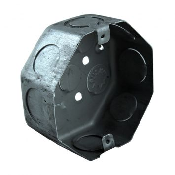 Caja embutir octogonal grande aluminizada nº20 liviana