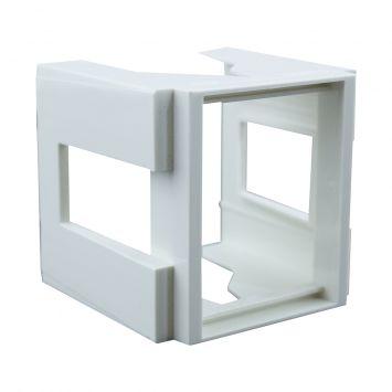 Adaptador p/riel din  accesorio p/tableros 2 modulos blanco