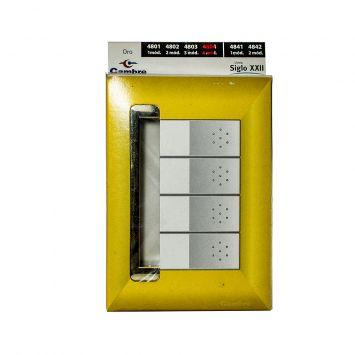 Tapa p/4 modulos linea siglo xxii  color  oro