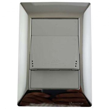 LLAVE ARMADA 1 USB DOBLE COMPLETA BCO C/TAPA PLATA CAMBRE SIGLOXXII