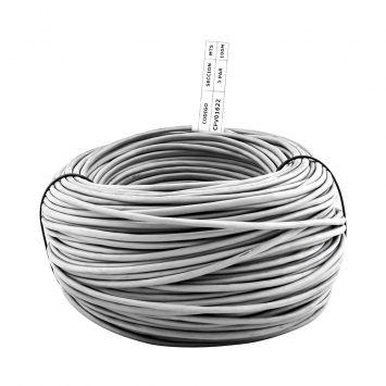 Cable telefonia multipar interior  3 pares pantalla aluminio color gris