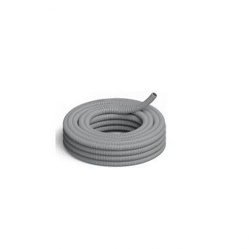 Caño corrugado pvc flexible reforzado ignifugo  1 1/4 p/hormigon gris