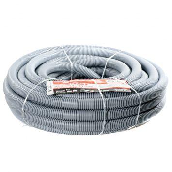 Caño corrugado pvc flexible reforzado ignifugo  1 1/2 p/hormigon gris