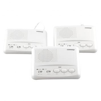 Kit - intercomunicador onda portadora 3 bases 3 canales