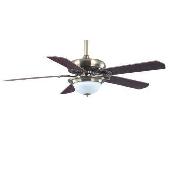Ventilador techo c/led 18w ctrol.rem. ench.madera.bronce airmax -hsta.agot.stock x discont