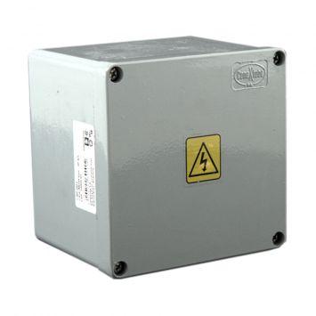 Caja estanca de aluminio inyectado ip65 multifunción 120x120x100mm