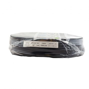 Cable tipo taller tripolar 3 x 4  mm pvc negro