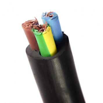 Cable tipo taller tripolar   3 x  6 mm pvc negro  x metro
