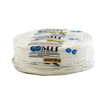 CABLE BIPOLAR PARALELO PERFIL 8  2 X 1MM BLANCO
