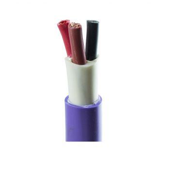 Cable subterraneo tripolar 3x6mm violeta iram 2178-1