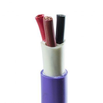 Cable subterraneo tripolar 3x10mm violeta iram 2178-1
