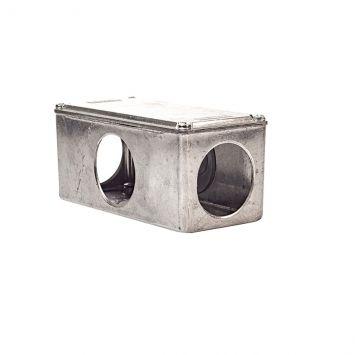 Caja multiple interior t/conduit x 1 1/2 rosca gas p/caño 1 1/2 galvanizado