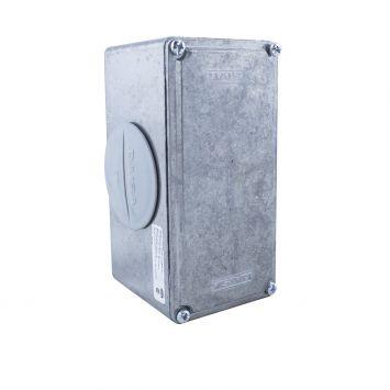 Caja multiple interior t/conduit x 2 rosca gas p/caño 2 galvanizado