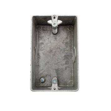 Caja aluminio p/bastidor sin tapa 5x10cm 3/4rosca gas p/caño 1galvanizado