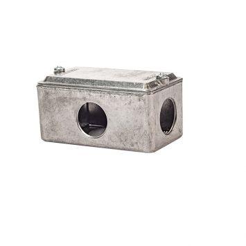 Caja multiple interior t/conduit x 3/4 rosca gas p/caño 1galvanizado