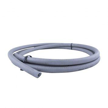 Caño metalico flexible c/pvc estanco ip65 1/2 gris  x metro