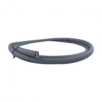 Caño metalico flexible c/pvc estanco ip65 3/4 gris  x metro