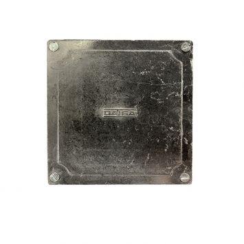 caja de paso aluminio exterior 10x10cm  4 salidas 1/2 rosca gas