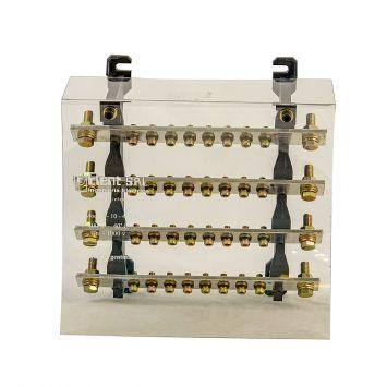 DISTRIBUIDOR ELECTRICO TETRAPOLAR PROFESIONAL 240X180MM 400A 1000V 4 BARRAS C/TORN. 5/16