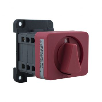 Interruptor rotativo a levas 2 polos (2vias) 20a posicion 0-1   380vca p/riel din