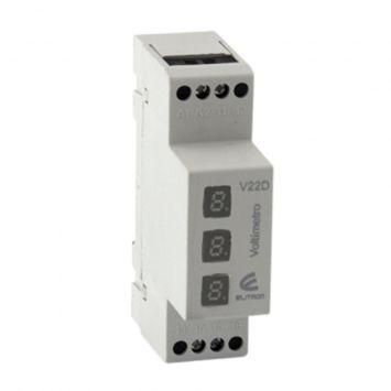 VOLTIMETRO DIGITAL H/260VCA 1 1/2 MODULO P/RIEL DIN ELITRON