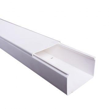 Cablecanal plastico 80x50mm std liso hd5f marfil tira x 2metros