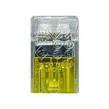 Conector empalme plastico mini 2 derivaciones p/cable 0.50 a 2.5mm amarillo -novedad-
