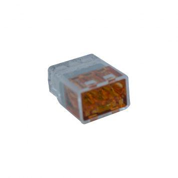 Conector empalme plastico mini 3 derivaciones p/cable 0.50/2.5mm  naranja - novedad-