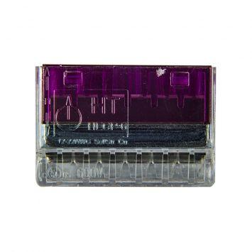 Conector empalme plastico 6 derivaciones  p/cable  0.50 a 2.5mm  violeta -novedad-