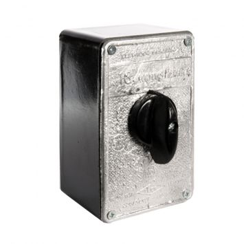 Llave interruptora tripolar conmutadora p/cortinas y portones  inversora monofasica 20a ne
