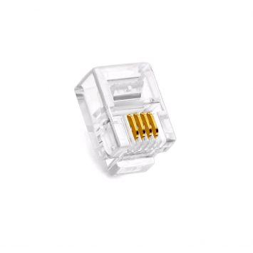 Tef0011 conector plug macho rj11 4c. p/ telefonia -ja-