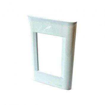 Tapa p/3 modulos rectangular blanco linea verona b.o
