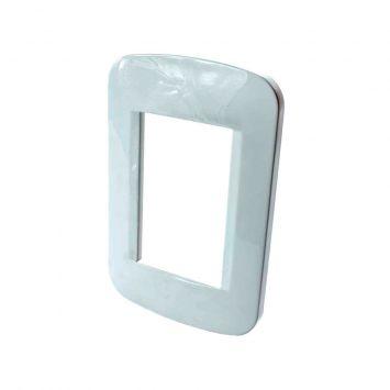 Tapa p/3 modulos rectangular 10x5 blanca linea regina
