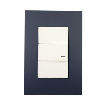 Llave armada 1 combinacion completa platinum modulo blanco + tapa azul noche jeluz