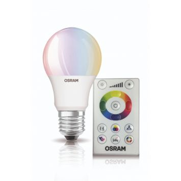 Lampara led colors 7.5w e27 a60 rgbw ctrol. rem.dimm. pack x3 unid.