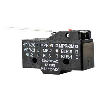 Microcontacto interruptor accionamiento rapido palanca larga tipo mp-2 cbn