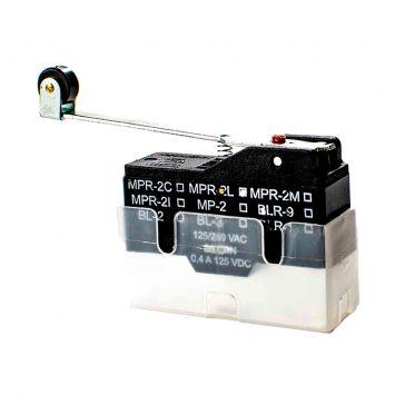 Microcontacto interruptor accionamiento rapido palanca larga con rodillo tipo mpr 2l cbn