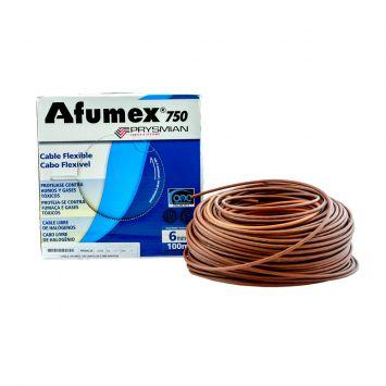 Cable unipolar libre halogeno afumex 6mm  marron