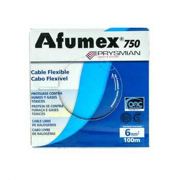Cable unipolar libre halogeno afumex 6mm  rojo