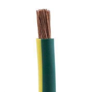 Cable afumex 750 unipolar 10 mm verde-amarillo